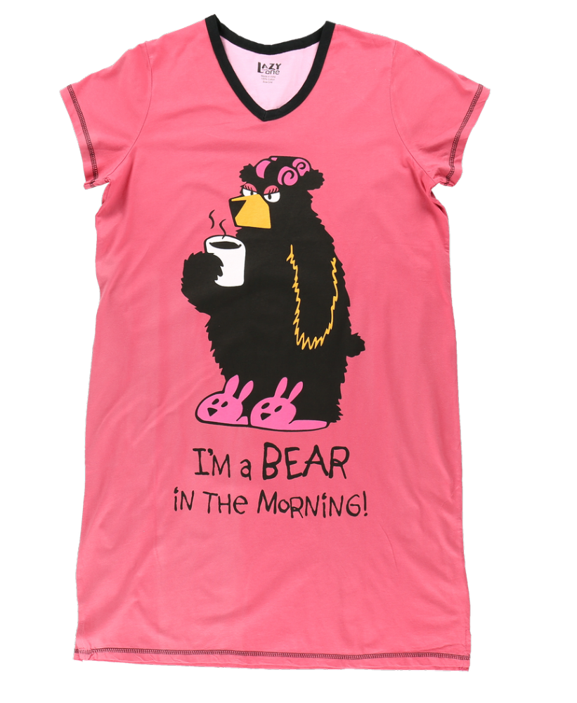 Bear in the Morning | Women's Nightshirts | Lazy One®